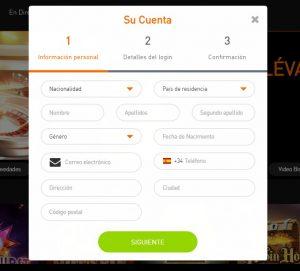 Cómo registrarse en Casino 777 online