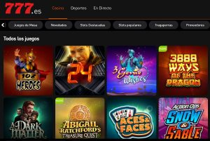 Juegos Disponibles en Casino 777
