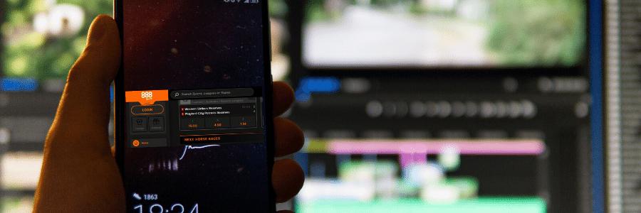 888Sport cuenta con su aplicación móvil realizar apuestas.