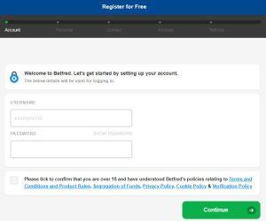 Registrarse en Befred Online