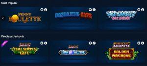 Juegos de casino disponibles en Betfred