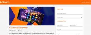 Cómo registrarse en el casino online Betsson