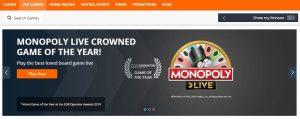 Juegos disponibles en el casino online Betsson