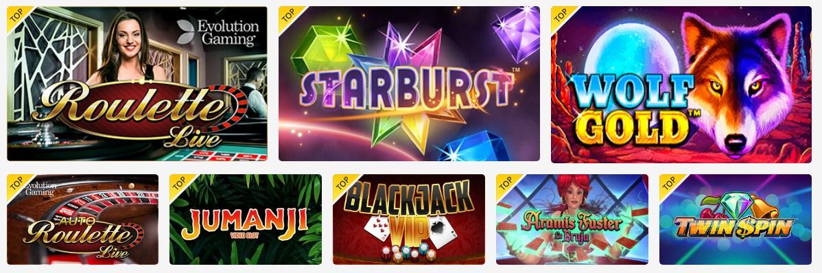 Los mejores juegos de casino online