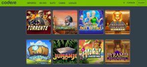 Juegos Disponibles en Codere Casino