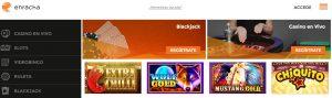 Juegos Disponibles en Casino Enracha