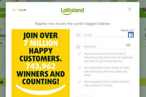 Cómo registrarse en Lottoland casino online