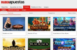 Juegos Disponibles en Marca Apuestas Casino