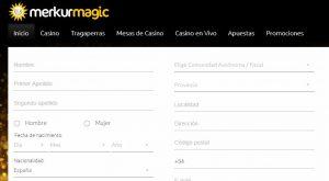 Cómo registrarse en Merkurmagic casino online