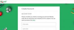 Cómo registrarse en Paf casino online