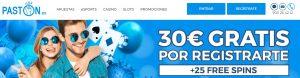 Bonos y promociones de Paston Casino Online