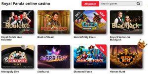 Juegos Disponibles en Royal Panda Casino
