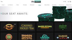 Juegos Disponibles en Sky Casino