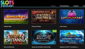 Juegos Disponibles en Slots Heaven Casino