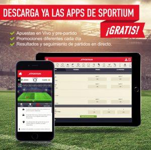 App móvil de apuestas Sportium