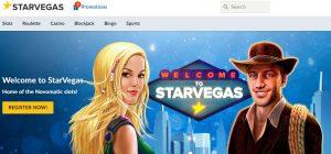 Bono de bienvenida de Starvegas casino online