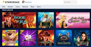 Juegos Disponibles en StarVegas Casino