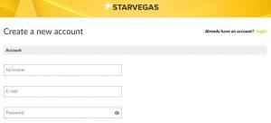 Cómo registrarse en Starvegas Casino Online