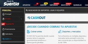 Cash out de las apuestas deportivas online en Suertia