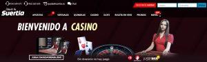 Bono de bienvenida de Casino Suertia