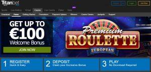 Bono de bienvenida de Titanbet casino online