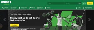 Unibet es una de las mejores plataformas de apuestas deportivas