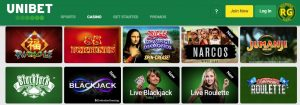 Juegos Disponibles en Unibet Casino