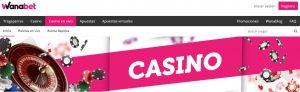Bono de bienvenida de Casino Wanabet