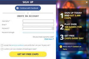 Cómo registrarse en Winstar Casino online