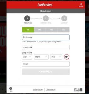 Cómo registrarse en Ladbrokes casino online