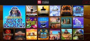 Juegos Disponibles en Mansion Casino