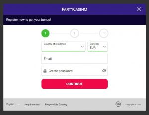 Cómo registrarse en Party Casino Online
