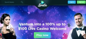 Bono de bienvenida de Spela Casino online