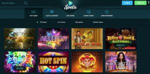 Juegos Disponibles en Spela Casino