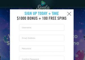 Cómo registrarse en Spela Casino Online