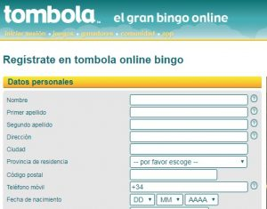 Cómo registrarse en Tómbola Casino Online