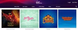 Juegos Disponibles en Virgin Games Casino