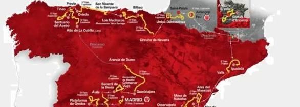 El recorrido de la famosa Vuelta de España.